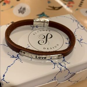 Plunder Jewelry - Plunder leather love cuff